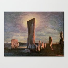 Callanish standing Canvas Print