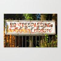 cosima Canvas Prints featuring No Trespassing by Cosima Higham