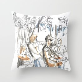 Andrew Neville & The Poor Choices Throw Pillow