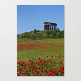 Poppy Field Penshaw Monument Canvas Print