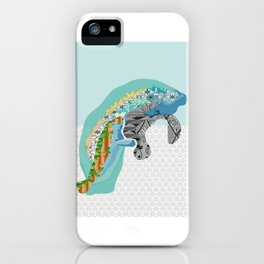 M is for Manatee iPhone Case