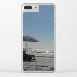 Umbrella on the Beach Clear iPhone Case