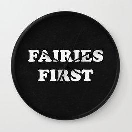 Fairies First Wall Clock