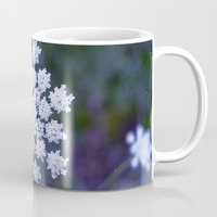 snowflake Mugs featuring Snowflake by The Last Sparrow