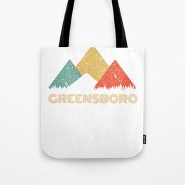 Retro City of Greensboro Mountain Shirt Tote Bag