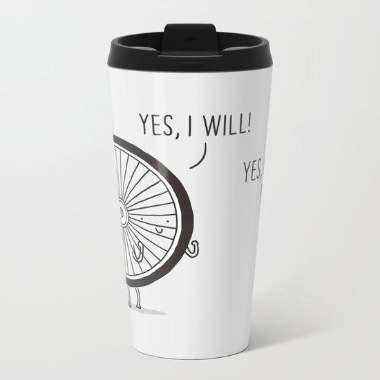 I will, I can Metal Travel Mug