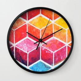Cubes - Colorful Geometric Wall Clock