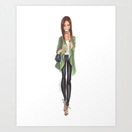 Fall girl1 Art Print