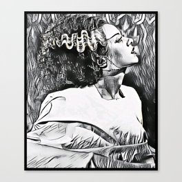 The Bride in Pen and Ink Canvas Print