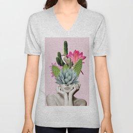 Cactus Lady Unisex V-Neck