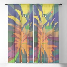 Tropical Sounds Sheer Curtain