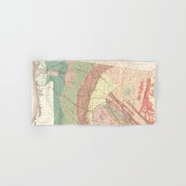 Vintage Agricultural Map of Alabama (1882) Hand & Bath Towel