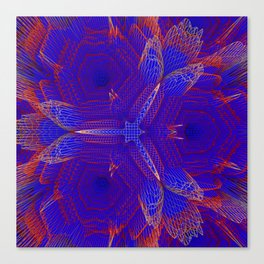 Abstract violet digital background Canvas Print