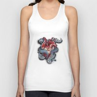 cthulu Tank Tops featuring Cthulhu Heart by lunaevayg