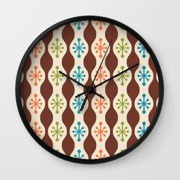 Mid Century Modern Ogee Pattern 143 Wall Clock