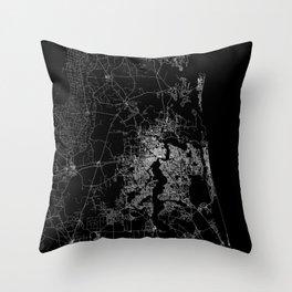 Jacksonville map Throw Pillow