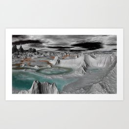 Planet formed by calcium sulfate, silicon oxide and more Art Print