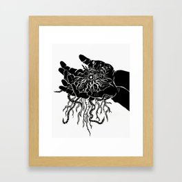 Our eyes hold the treasures of the world - As our hands hold the treasures of this earth - Black Framed Art Print