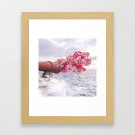 Floral Fog Horn Framed Art Print