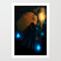 merida Art Prints featuring Merida by Azulity