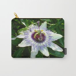 Beautiful Passion Flower With Garden Background  Carry-All Pouch