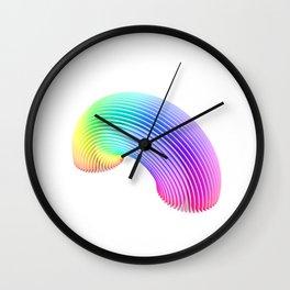 Rainbow Sections  Wall Clock