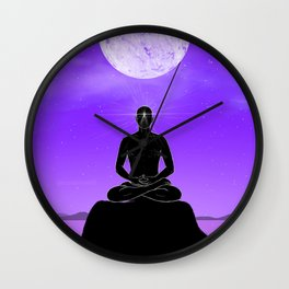 Third Eye chakra. Wall Clock