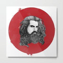 Messy Hair Metal Print