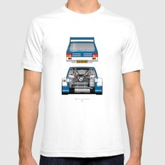 Outline Series N.º7, MG Metro 6R4, 1986 X-LARGE White Mens Fitted Tee