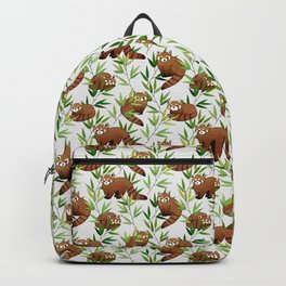 Red Panda Pattern Backpack