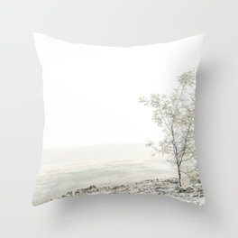 Wattle Tree Snow Winter Landscape Throw Pillow