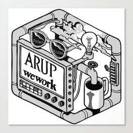 Arup WeWork West Project Patch Canvas Print