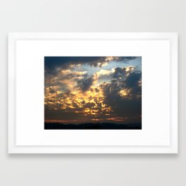 Bruins Sunset Framed Art Print