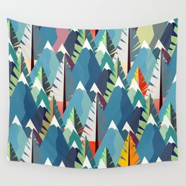 Mountains and Spruces Pattern Wall Tapestry