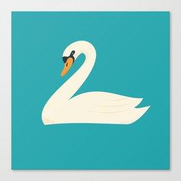Beautiful white swan Canvas Print