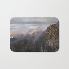 Sandia Mountains in the Fall Bath Mat