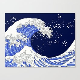 Great Blue Wave Canvas Print