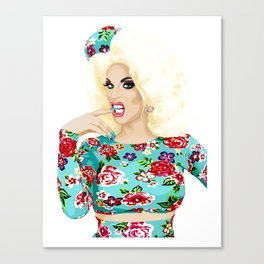 Katya Zamo, Jet Set Eleganza, RuPaul's Drag Race Queen Canvas Print