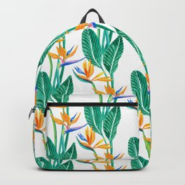 Bird of paradise watercolour tropical Backpack