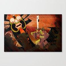 Jack vs. Aku Canvas Print