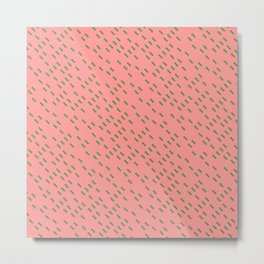 Pattern in Pink and Green Metal Print