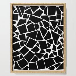 Black and white pattern - Scatter Geo Serving Tray