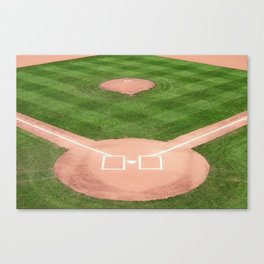 Baseball field Canvas Print