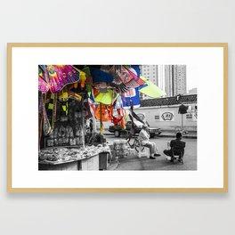 colorful kites Framed Art Print