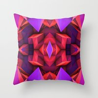 rave Throw Pillows featuring Rave by Billy Harris