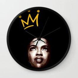 Lauryn Hill illustration Wall Clock