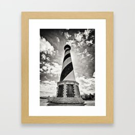 Cape Hatteras Lighthouse, Outer Banks NC (Black & White/Sepia-toned) Framed Art Print