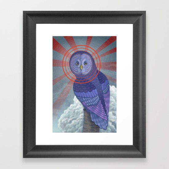Great Grey Owl Framed Art Print