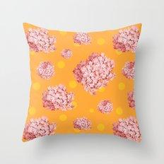 hydrangea polka Throw Pillow