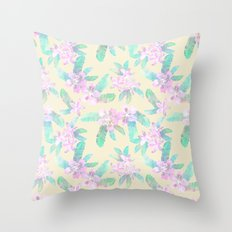 Tahitian Garden {I} Throw Pillow